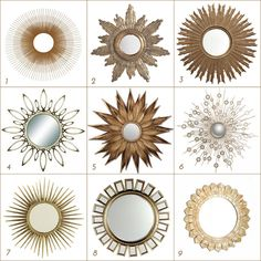 Great sources for Sunburst Mirrors.