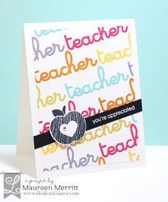 Maureen Merritt for Lil' Inker Designs September Release featuring Teacher Talk and the Apple Pieces Die.