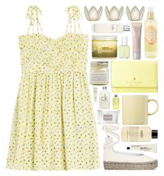 She's got the sunshine in her by ladyvalkyrie on Polyvore featuring polyvore, fashion, style, The Kooples, Zero + Maria Cornejo, Kate Spade, Laura Mercier, Calvin Klein, philosophy, Korres, Aveda, H2O+, L'Occitane, Essie, Rosenthal, Brooklyn Candle Studio, Cultural Intrigue and clothing
