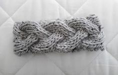 Instructions for knit cable headband