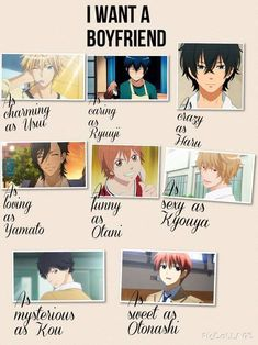 Anime: kaichou wa maid sama, toradora, my little monster, say I love you, lovely complex, ookami shoujo to kuro ouji, ao haru ride, angel beats