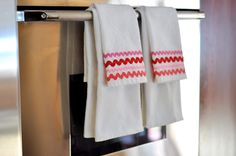Aesthetic Nest: Sewing: Rick Rack Dish Towels
