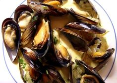 Mussels with Saffron Cream. (Suggestion: Use 1/2 tsp saffron and 1 1/2 ...