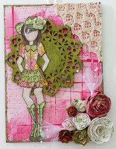 Prima doll canvas via Fiona Hughes. Made by Nancy Darling. via Wendy Schultz ~ Prima Projects.