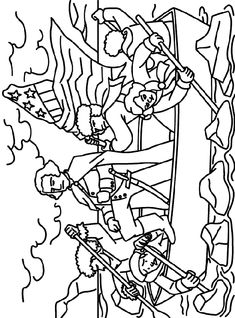 washington crossing the delaware presidents day coloring page