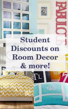Student discounts on everything you need for your dorm room!