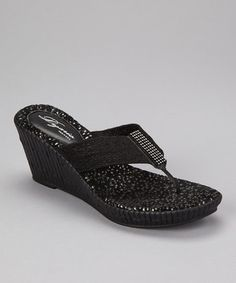 Dezario  -  Black Imperial Wedge Sandal  -  Zulily