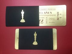 Tarjeta de 15 estilo ticket premios Oscar 14th Birthday, Diy Birthday, Birthday Party Themes, Birthday Invitations, Hollywood Party, Hollywood Birthday Parties, Photos Folles, Kino Party, Quinceanera Favors