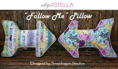 "FREE PATTERN: ""Follow Me"" Pillow featuring Sunday Morning | Dear Stella Design Sewing Pillows, Diy Pillows, Sewing Patterns Free, Free Pattern, Sewing Ideas, Arrow Pillow, Cute Arrow, Decorative Cushions, Sunday Morning"