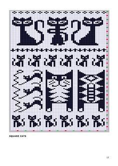 猫咪图 - maomao - 我随心动 cool chart for pattern knitting Lots of great chart patterns