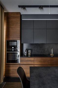 25 Minimalist And Stylish Kitchen Design Ideas - Modern Kitchen Kitchen Room Design, Kitchen Paint, Modern Kitchen Design, Home Decor Kitchen, Kitchen Furniture, Interior Design Living Room, Kitchen Ideas, Modern Design, Kitchen Designs