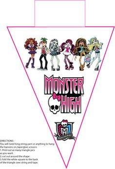 Monster High Banner 1, Monster High, Party Decorations - Free Printable Ideas from Family Shoppingbag.com