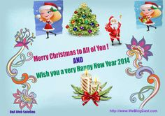 Happy New Year 2014, Merry Christmas To All, Sweets, Friends, Link, Free, Merry Christmas To Everyone, Sweet Pastries, Amigos