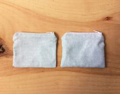 Set of 2 Small Pouches - White Mint Green Net Pattern, Zipper Change Pouch - Fabric Pouch - Tiny Coin Pouch - Siblings - Tiny Purse by BlackcatmeowDesigns on Etsy