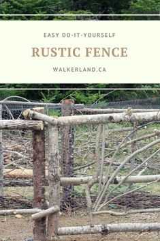 Learn how to make your own rustic & creative fence or chicken run using salvaged wood and materials from the forest around you.