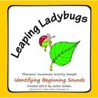 This Leaping Ladybugs Stepping Stones activity is a fun way to tune your young students into identifying the initial phoneme of words.  In this d...