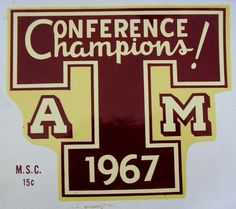 1000+ images about 1961-1970 Texas A&M Aggies on Pinterest ...