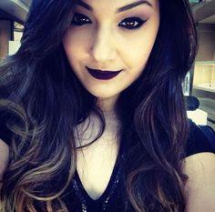 A @beahmatuck, da NYX do Shopping ABC, usou o Soft Matte Lip Cream Transylvania para fazer essa maquiagem inspirada na cantora Lorde