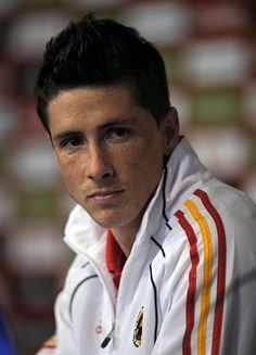 Spain's striker Fernando Torres gives a press conference at the North West University Sports Village in Pochefstroom on June 19, 2010. Spain are in Group H of the 2010 football World Cup and will play Honduras on June 21 in Johannesburg and Chile four days later in Pretoria.