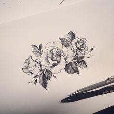 : Roses design  #design #drawing #rose #tattoo #tattooistdoy #타투 #타투이스트도이 #타투도안 #Padgram