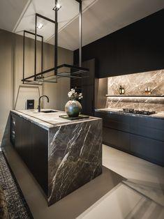 Luxury Kitchen Design, Contemporary Kitchen Design, Interior Design Kitchen, Modern Interior Design, Interior Styling, Kitchen Decor, Black Kitchens, Home Kitchens, Kitchen Views
