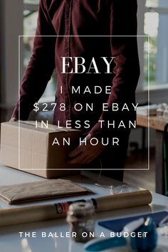See how I made $278 on eBay in less than an hour.