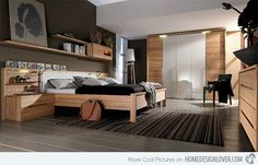 15 Bedroom Wardrobe Cabinets with Wooden Finishes