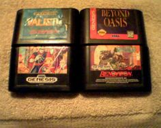 Sega RPG LOT (VALIS 3)(Shining in the Darkness)(Exile)(Beyond Oasis)