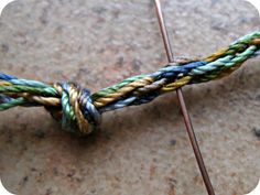 Tutorial:  Wire Wrapping Kumihimo Ends