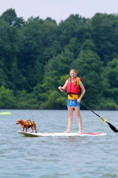 go stand up paddleboarding with my dog