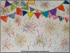 Bricolage enfants pour le 14 juillet. 14 juillet multicolore !