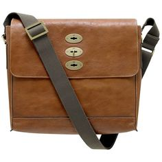 Mulberry Brynmore Natural Leather Messenger Bag, Oak