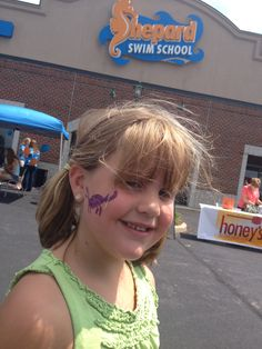 Face Painting at the one year Birthday Party for Sheppy! Lots of kids and fun and prizes