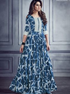 Shop from the huge collection of & Pvt. Shop stylish Kurti online for in various and Call @ or Whatsapp @ Kurti Neck Designs, Kurta Designs Women, Kurti Designs Party Wear, Dress Indian Style, Indian Dresses, Gown Pattern, Dress Patterns, Indian Designer Outfits, Designer Dresses