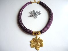 Purple new design  handmade  women jewelry Best of Etsy by bytugce, $29.00