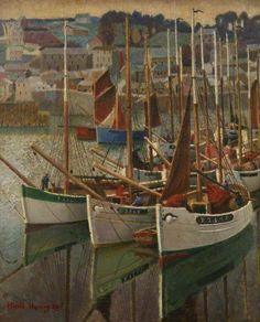 The Athenaeum - French Crabbers (Harold Harvey - )1930