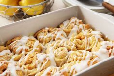 Skip the bakery run. Our Sweet Lemon Sticky Buns with Cream Cheese Glaze are a cinch to make, thanks to refrigerated crescent dinner rolls—and they'll be warm from the oven!