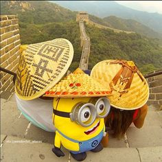 Minion at Great Wall of China - wonderful_places's photo on Instagram