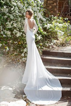 julie vino 2014 spring bridal catherine wedding dress back view