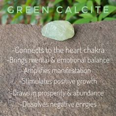 Green Calcite is a great manifestation & growth stone. It is also very peaceful with some protective properties.