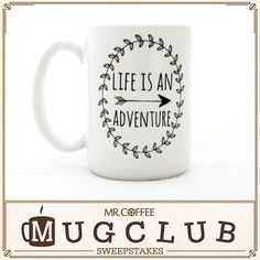 Life is an adventure, and every great adventure starts with a cup of delicious coffee!/#