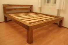 Bed Frame Design, Bedroom Bed Design, Diy Bed Frame, Bedroom Decor, Homemade Beds, Diy Furniture, Furniture Design, Platform Bed Designs, Bunk Beds With Storage