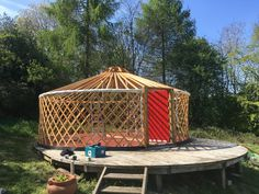 look forward to April when we put up the Yurt Building Structure, Gazebo, Buildings, Outdoor Structures, Kiosk, Pavilion, Cabana