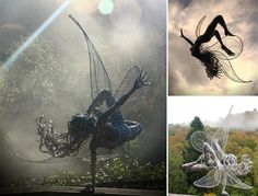 Stainless Steel Wire Fairies by Robin Wight. Found on beautifulllife.