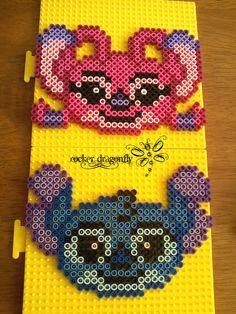 Stitch and Angel perler beads by RockerDragonfly on deviantart