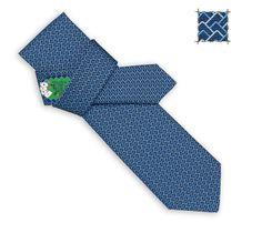 TIE Poker Hermes heavy silk twill tie, hand-folded, 3.15''