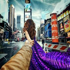 Photographer's Girlfriend Continues to Lead Him Around the World (Murad Osmann & Nataly Zakharova) - Times Square NY Lombok, Photography Projects, Couple Photography, Travel Photography, Amazing Photography, New Pictures, Cool Photos, Amazing Photos, Amazing Places