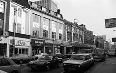 Great clear shot of Woolworths, Jeanie, and Ourprice in Croydon High Street Surrey England in the London History, Local History, Family History, South London, Old London, Old Pictures, Old Photos, Vintage Photos, Purley Way
