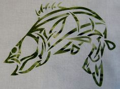 Celtic Bass Fish Knot Quilt Applique Pattern by QuiltingSupport, $5.99