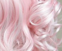 White and pink and shades in between.  Like fluffy layers of candy cotton.  I must be hungry, because all I am doing is posting pictures of hair that looks like candy.